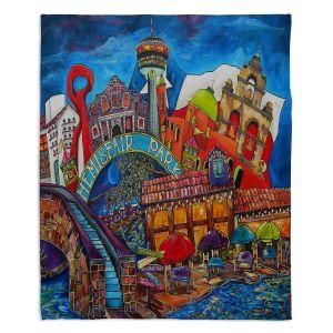 Decorative Fleece Throw Blankets | Patti Schermerhorn - Downtown San Antonio Texas