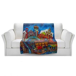 Artistic Sherpa Pile Blankets | Patti Schermerhorn - Downtown San Antonio Texas