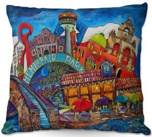 Decorative Outdoor Patio Pillow Cushion | Patti Schermerhorn - Downtown San Antonio Texas