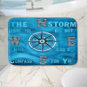 Decorative Bathroom Mats | Patti Schermerhorn - Gods Nautical Compass