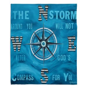 Decorative Fleece Throw Blankets | Patti Schermerhorn - Gods Nautical Compass
