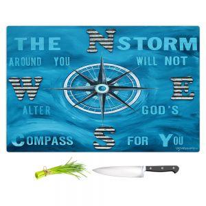 Artistic Kitchen Bar Cutting Boards | Patti Schermerhorn - Gods Nautical Compass