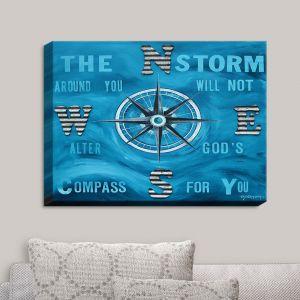 Decorative Canvas Wall Art | Patti Schermerhorn - Gods Nautical Compass | Quotes Inspiring