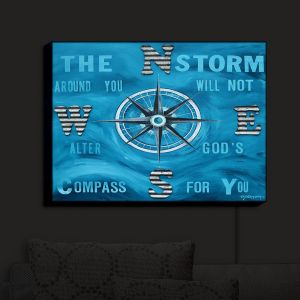 Nightlight Sconce Canvas Light | Patti Schermerhorn - Gods Nautical Compass | Quotes Inspiring