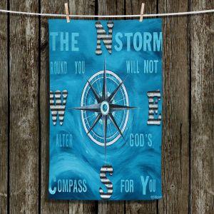 Unique Bathroom Towels | Patti Schermerhorn - Gods Nautical Compass
