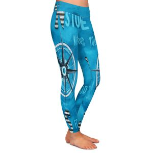 Casual Comfortable Leggings | Patti Schermerhorn - Gods Nautical Compass