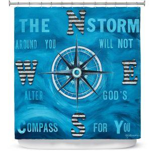 Premium Shower Curtains | Patti Schermerhorn - Gods Nautical Compass