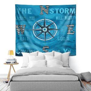 Artistic Wall Tapestry   Patti Schermerhorn - Gods Nautical Compass