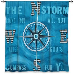 Decorative Window Treatments | Patti Schermerhorn - Gods Nautical Compass