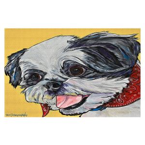 Decorative Floor Covering Mats | Patti Schermerhorn - Happy Shih Tzu | Dog Animal