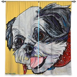 Decorative Window Treatments | Patti Schermerhorn - Happy Shih Tzu | Dog Animal