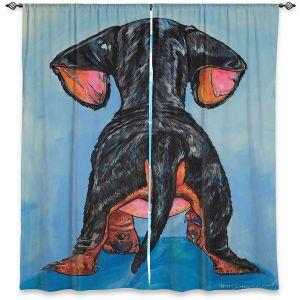 Decorative Window Treatments | Patti Schermerhorn - Hindsight Dachshund | Animals Dogs
