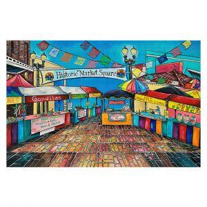 Decorative Floor Covering Mats | Patti Schermerhorn - Historic Market Square | town street shopping