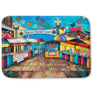 Decorative Bathroom Mats | Patti Schermerhorn - Historic Market Square | town street shopping