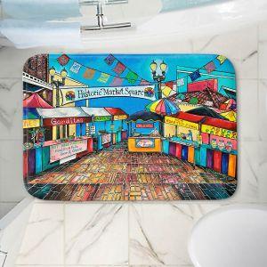 Decorative Bathroom Mats | Patti Schermerhorn - Historic Market Square | town street shopping