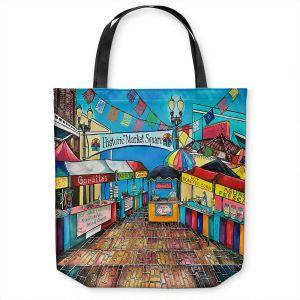 Unique Shoulder Bag Tote Bags | Patti Schermerhorn - Historic Market Square | town street shopping