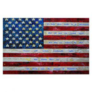 Decorative Floor Covering Mats | Patti Schermerhorn - I Believe USA | flag america patriotism