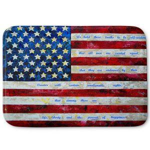 Decorative Bathroom Mats | Patti Schermerhorn - I Believe USA | flag america patriotism