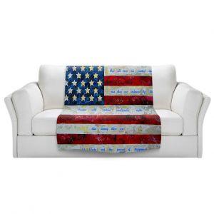 Artistic Sherpa Pile Blankets | Patti Schermerhorn - I Believe USA | flag america patriotism