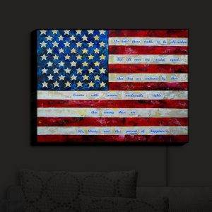 Nightlight Sconce Canvas Light | Patti Schermerhorn - I Believe USA | flag america patriotism