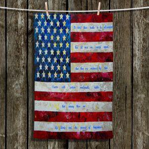 Unique Bathroom Towels | Patti Schermerhorn - I Believe USA | flag america patriotism