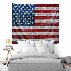 Artistic Wall Tapestry   Patti Schermerhorn - I Believe USA   flag america patriotism