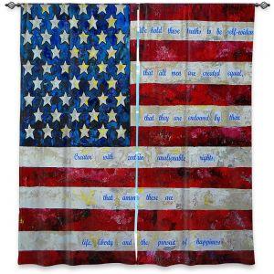 Decorative Window Treatments | Patti Schermerhorn - I Believe USA | flag america patriotism