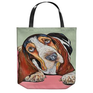 Unique Shoulder Bag Tote Bags | Patti Schermerhorn - Im All Ears Basset Hound | Animal Dog