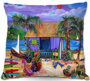 Decorative Outdoor Patio Pillow Cushion | Patti Schermerhorn - Island Time