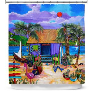 Premium Shower Curtains | Patti Schermerhorn Island Time