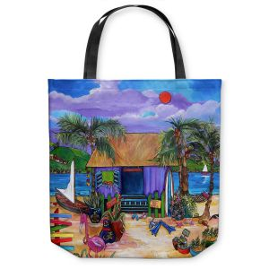 Unique Shoulder Bag Tote Bags | Patti Schermerhorn Island Time
