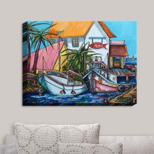 Decorative Canvas Wall Art | Patti Schermerhorn - Just a Little Beach Town