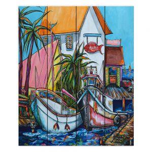 Decorative Wood Plank Wall Art | Patti Schermerhorn Just a Little Beach Town