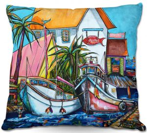 Decorative Outdoor Patio Pillow Cushion | Patti Schermerhorn - Just a Little Beach Town