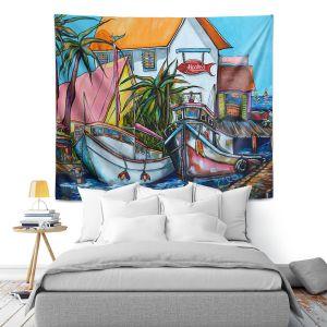 Artistic Wall Tapestry | Patti Schermerhorn Just a Little Beach Town