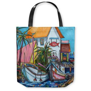 Unique Shoulder Bag Tote Bags | Patti Schermerhorn Just a Little Beach Town