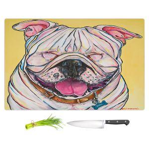 Artistic Kitchen Bar Cutting Boards | Patti Schermerhorn - Laughing Bulldog | Animals Dogs