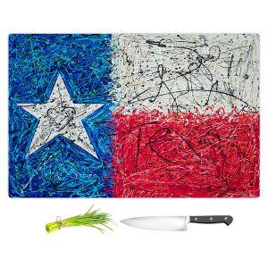 Artistic Kitchen Bar Cutting Boards | Patti Schermerhorn - Love for Texas Abstract | Flags States