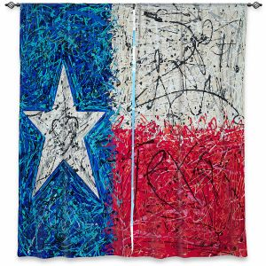 Decorative Window Treatments | Patti Schermerhorn - Love for Texas Abstract | Flags States