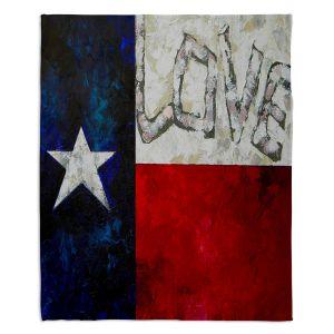 Decorative Fleece Throw Blankets   Patti Schermerhorn - Love For Texas
