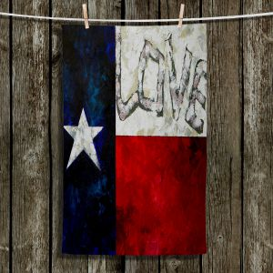 Unique Hanging Tea Towels | Patti Schermerhorn - Love For Texas | Flag Texas Love