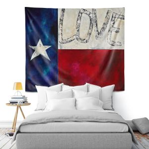 Artistic Wall Tapestry | Patti Schermerhorn - Love For Texas ll | Love Texas State