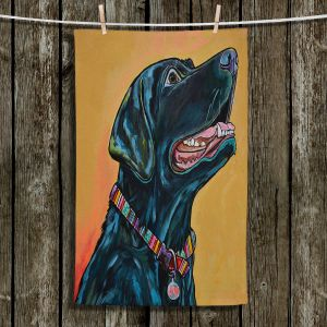 Unique Hanging Tea Towels | Patti Schermerhorn - Loving Labrador | dog portrait