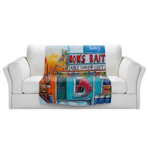Artistic Sherpa Pile Blankets | Patti Schermerhorn - Moms Bait Shop | storefront coast beach summer