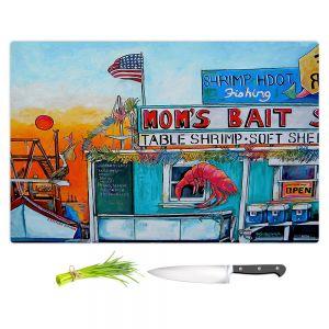 Artistic Kitchen Bar Cutting Boards | Patti Schermerhorn - Moms Bait Shop | storefront coast beach summer