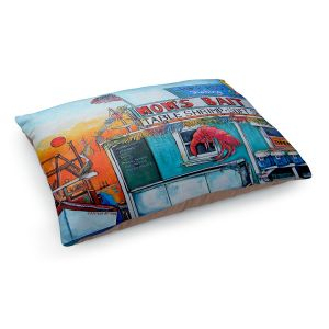 Decorative Dog Pet Beds | Patti Schermerhorn - Moms Bait Shop | storefront coast beach summer