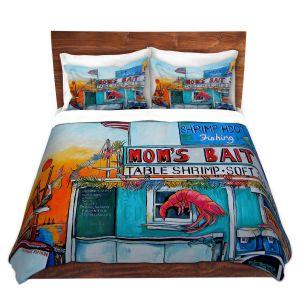 Artistic Duvet Covers and Shams Bedding | Patti Schermerhorn - Moms Bait Shop | storefront coast beach summer