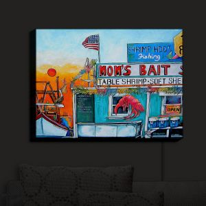 Nightlight Sconce Canvas Light | Patti Schermerhorn - Moms Bait Shop | storefront coast beach summer