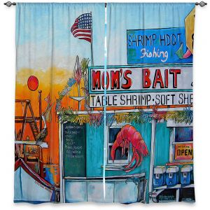 Decorative Window Treatments | Patti Schermerhorn - Moms Bait Shop | storefront coast beach summer