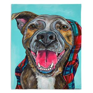 Decorative Fleece Throw Blankets | Patti Schermerhorn - My Blanket Dog | Dog Animal